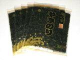 【送料無料】お買得 江戸前(千葉産)全形焼き海苔<赤>10枚入り×5袋 【2sp_120405_b】