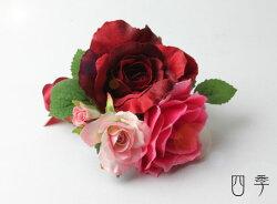 ラウンドブーケ*花冠*7776*ピンク&レッド*ミックス*結婚式