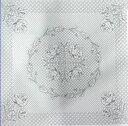 パッチワーク ホワイトキルト トップ 【バラ柄】 色つき