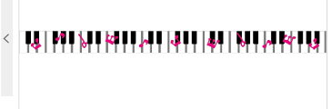 デザインミニテープ 123 ピアノ