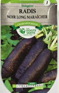 CATROS 公司-法國蔬菜種子蘿蔔和黑色西班牙長 412