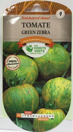 CATROS社-フランス野菜の種【トマト・グリーンゼブラ】