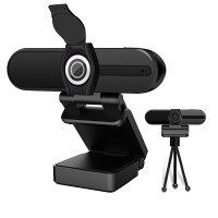RAVOLTAZOOMC1000ウェブカメラ1080p高音質マイクUSB接続ズーム三脚付き