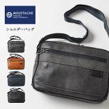 MOUSTACHE ムスタッシュ レザーショルダーバッグ 合皮 (VZN-0550) 斜めがけ 鞄 かばん フェイクレザー 茶紺黒 メンズ カジュアル アメカジ