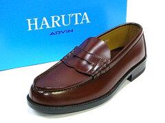 HARUTA6550メンズコインローファー(ブラウン)