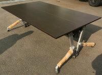 わけありアウトレット(訳あり)平行スタックテーブル【2台セット】SY−2160M型天板:ストレインウッド色【送料無料】