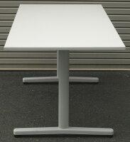 わけありアウトレット(訳あり)ミーティングテーブルST-1000シリーズホワイト天板ホワイト塗装脚タイプW1500,D750,H700ミリ【送料無料】