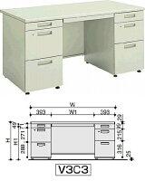 BS+デスクシステム両袖デスクV3W1400.D700.H700mm
