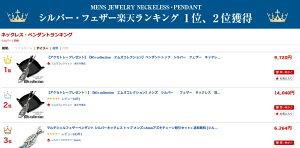 【アクセトレープレゼント!】【M'scollectionエムズコレクション】メンズシルバーフェザーネックレス羽根イーグルジュエリーギフトMサイズ中silver925シルバー925ペンダント送料無料ラッピング包装XP-00810P26Mar16