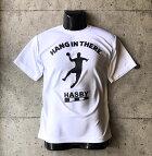 【新入荷】HASBYハンドボールTシャツドライシルキーhanginthereブラック白