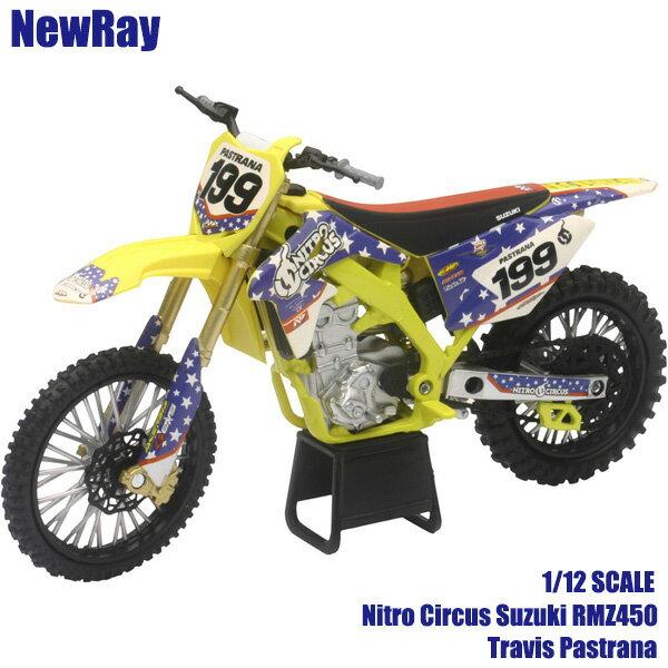 車・バイク, バイク NewRay 112 Suzuki RMZ450 Travis Pastrana