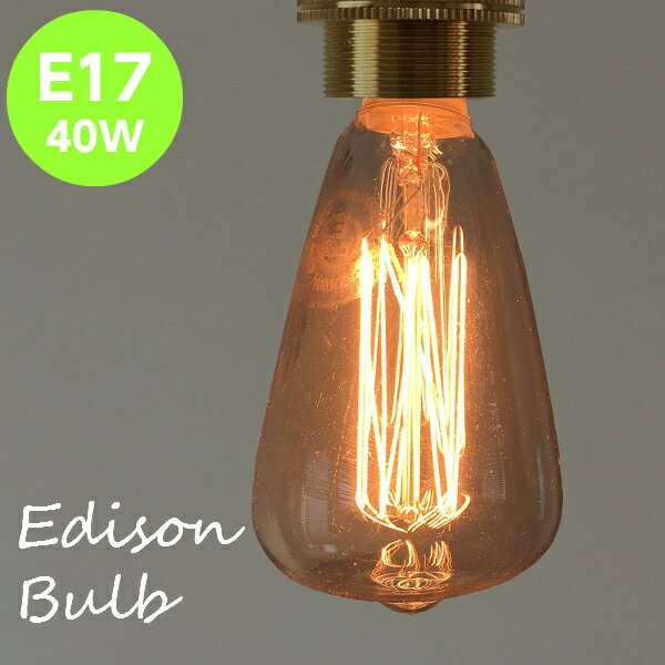 【令和記念ポイント10倍】エジソン 電球 e17 40w Edison Bulb アンティーク調 おしゃれ 照明 ダイニング用 食卓用 リビング用 居間用 6畳 北欧 天井照明  照明器具 電気 寝室 間接照明 新生活