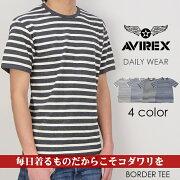 アビレックス アヴィレックス Tシャツ ボーダー トップス インナー デイリー ブランド