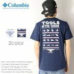 【2018年 春夏新作】【Columbia コロンビア】 tシャツ 半袖 プリント コラボ フィッシング 釣り OMNI-SHADE men's メンズ 国内正規品 インポート ブランド 海外ブランド アウトドアブランド JE2652 PFG Tools Element Short Sleeve Tee
