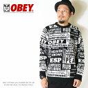 【セール 20%OFF】【OBEY オベイ】 ニット セータ...