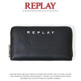 【REPLAY リプレイ】 財布 サイフ 長財布 ラウンドジッパー エコレザー リプレイジーンズ メンズ 国内正規品 インポート ブランド 海外ブランド プレゼント ギフト 彼氏 男性 FW5198-000-A0132D