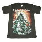 アメコミ風 ロックTシャツ Children Of Bodom(チルドレン・オブ・ボドム) M L /バンT/黒/HM/半袖/ヘビ-メタル/髑髏/死神