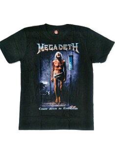ロックTシャツ MEGADETH メガデス Count down to Extinction S/M/L/XL /バンT/バンドT/ハ−ドロック/HM/HR/ヘビ−メタル/スカル