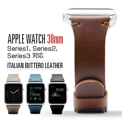 <SLG Design > Apple Watch レザーバンド 38mm用 ブッテーロレザー 本革 アップルウォッチ ベルト Series1,2,3,4(40mm)SD9045AW SD9043AW SD9044AW