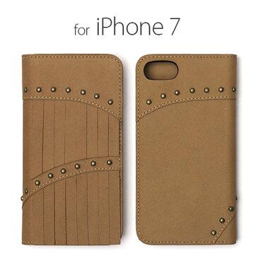 <Zenus>【iPhone 8/7 4.7インチ】 手帳型 Fringe Diary(フリンジダイアリー) 天然ヌバックレザーの高級感にフリンジ&スタッズがおしゃれ Z44577i7