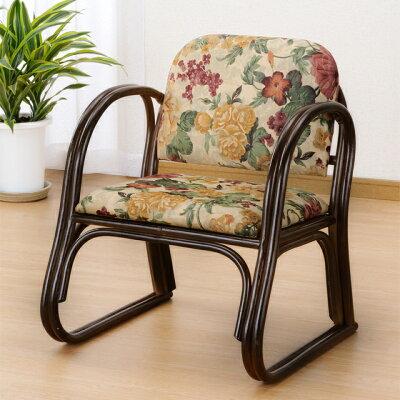 籐 ラタン 椅子 背もたれ 幅広 ミドルタイプ 座椅子 S109B (250823) 法事 法要 チェアー 敬老の日 プレゼント rattan 送料無料 【IE】