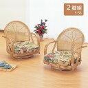 【送料無料】 (人気商品)籐(ラタン) 回転座椅子ロータイプ2脚組S-33set(250927) rattan【IE】
