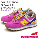 �ԥ��饷�å���ǥ�ա�newbalance�ۥ˥塼�Х��WL574EXB(��B)[PURPLE/YELLOW]���˥󥰥��塼��ClassicStyle���ˡ�����(��ǥ�����)