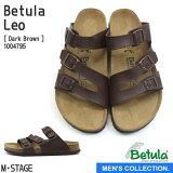 【Betula】ベチュラ レオ ダークブラウン メンズ コンフォートサンダル ベルトサンダル Dark Brown Betula Leo 3本ベルト 茶色 レザー