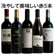 冷やして美味しい赤ワイン5本セット!