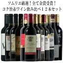 ソムリエ厳選金賞12本!全て金賞受賞!厳選赤ワイン飲み比べ12本セット! 赤 ワ