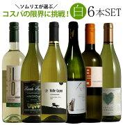 ソムリエ厳選白ワイン6本飲み比べ 送料無料  白 ワインセット wine ギフト プレゼント ワイン 白ワイン 750ML  あす楽 父の日 おすすめ お中元