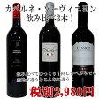 大人気品種 カベルネ・ソーヴィニヨン 飲み比べ 3本 赤ワインセット 赤ワイン チリ産 ワイン セット 赤 ワインセット wine