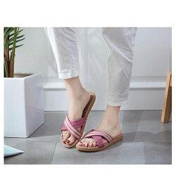 サンダルレディース靴春夏ぺたんこローヒールフラットクロスサンダルローヒールトレンドフラットサンダルレディース歩きやすい軽量夏3色SMLサイズ送料無料