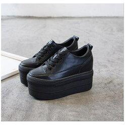 厚底スニーカースニーカーシューズインヒールスニーカーレディース厚底黒白スニーカー編み上げレースアップレディーススニーカー疲れない靴レディーススニーカー靴シューズ歩きやすい厚底大きいサイズ本革21.5cm〜24.5cm
