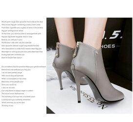 ショートブーツブーティブーティーピンヒールポインテッドトゥバックジッパーショートブーツハイヒールピンヒールポインテッドトゥブーツブーティ美脚ハイヒールブーティー歩きやすい痛くないレディース靴ピンヒール美脚通勤OLレディース靴