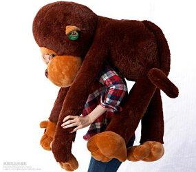 ぬいぐるみサル特大110cmぬいぐるみクリスマスプレゼントお誕生日くまぬいぐるみ大猿さる大きいぬいぐるみ手触りふわふわ動物ぬいぐるみ抱き枕女性母の日クリスマス彼女ギフト贈り物女の子店飾り巨大ぬいぐるみおもちゃ