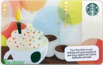 [送料無料]Starbucks スターバックスアメリカカード Birthday Drink 2012米国カード