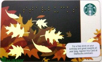 [送料無料]Starbucks スターバックスアメリカカード Fall Braille 2011米国カード/送料無料/クリックポスト発送/ギフト包装/海外限定品/日本未発売/スタバ/タンブラー/マグ/クリスマス/バレンタイン/ハロウィン