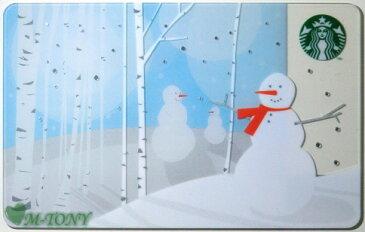[送料無料]Starbucks スターバックス日本カード 2011クリスマス スノーマン カード/送料無料/クリックポスト発送/スタバ/タンブラー/マグ