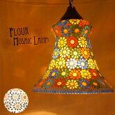 ランプモザイクランプフラワーガラスチップ