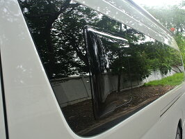 ハイエース200系4型/NV350キャラバン・ダークスモーク小窓バイザー(サイドバイザー)