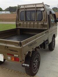 ハイゼットトラックS500P/S510Pビッグワイドバイザー(ダークスモーク)サンバー,ピクシストラックS500型/S510型にも対応!(ドアバイザー)