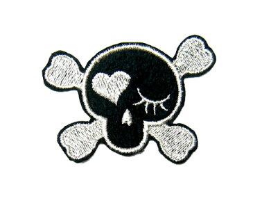 刺繍ワッペン ウインクスカル[wap-006]