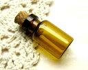 茶色の小瓶2.4x1.3 [oth-bin-003]【ガラス・アクセサリーパーツ・ビーズ】