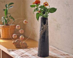 信楽焼 陶器製 合わせ円すい花瓶 (K057-G05) ギフト/お祝い/贈り物/窯元直送/合計…