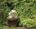 信楽焼 黄 カエル 置物 10号 [名入れ 対応※有料] 陶器 かわいい かえる 大きい 蛙 おしゃ...
