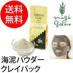 【アルジタル】グリーンクレイパウダーアクティブ500g(海泥パック顔、全身用)