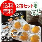 【ハニージャパン】100%ハニードロップレット柚子&プロポリス入(のど飴)23g×6粒(のど飴)