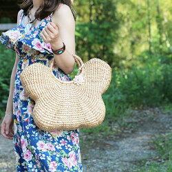ピースゥア蝶々かごバッグちょうちょうバッグストローバッグウォーターヒヤシンスレディース鞄雑貨ランチバッグエコバッグトートバッグ手提げ小物入れ婦人用レジャー夏
