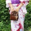 【かごバッグ】バンブーキンチャクSサイズ ストローバッグ 浴衣 花火大会 和装 夏 盆踊り 成人式 竹
